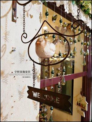 日式鄉村風小鳥WELCOME歡迎光臨雙面掛牌門牌咖啡館酒吧門口補習班服飾店早午餐店壁飾 ♖花蓮宇軒家飾家具♖