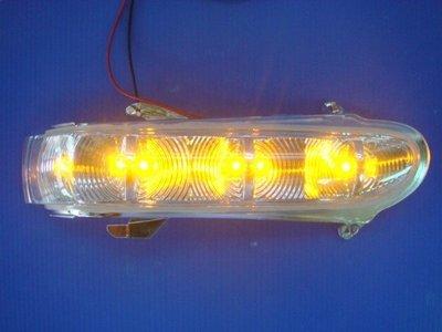小亞車燈╠ 高優質精品 全新 賓士 W220 S350 後視鏡 晶鑽 轉向燈