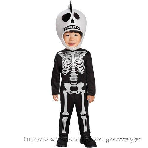妍媽咪兒童禮服出租~Halloween 骷髏小童骷顱連身裝造型服~萬聖節表演遊行
