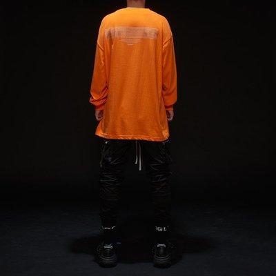 【MASS】DISARRAY LONG SLEEVE TEE TRAILBLAZER 薄長袖 黑色 & 橘色