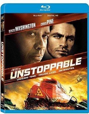 BD 全新美版【煞不住】【Unstoppable】Blu-ray 藍光 丹佐華盛頓
