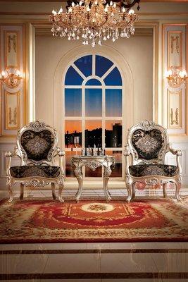 [紅蘋果傢俱] F135M-3 洛克思瑞 新古典 歐式奢華 法式 沙發椅 休閒椅 餐椅 椅子