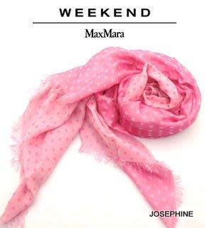 喬瑟芬【WEEKEND~MAXMARA】特價$5000含運~2014早春 粉紅 polka-dot  modal+co 圍巾 披肩