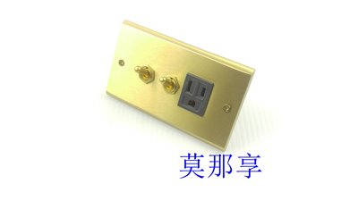 [ 莫那享 ] 工業風 黃銅 黃銅雙開+接地單插 (深灰色) F-604