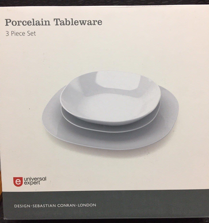 英國設計師品牌UNIVERSAL EXPERT, UE餐盤組3個一組_全新有盒