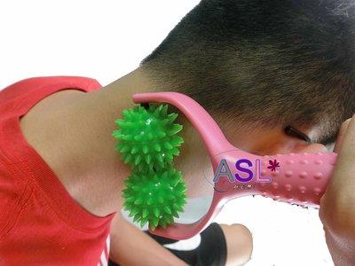 買一送一 y字形按摩棒 按摩球 5cm  肩頸僵硬 (送小按摩球鑰匙圈)