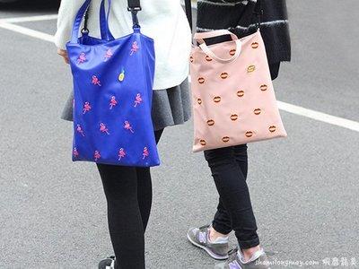 HAPPY+【V5120】U-PICK 原品生活 歐美 時尚 PU 刺繡 手提 單肩包 單肩包手提包 學生書包 收納