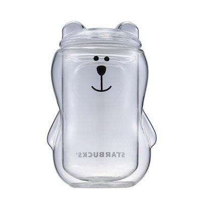 [星巴克] Bearista造型雙層玻璃杯