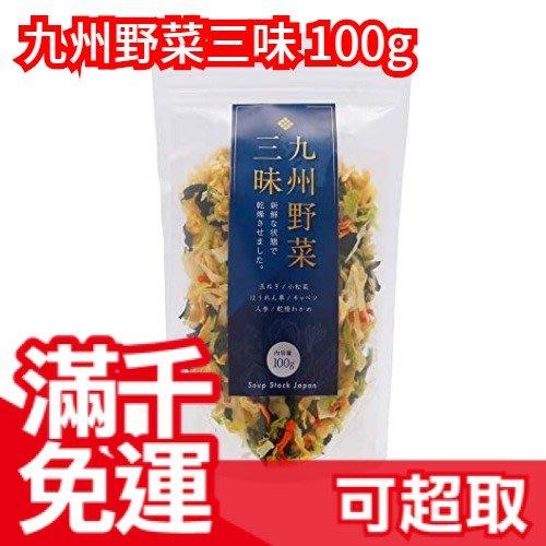 日本九州製 九州野菜三味 乾燥蔬菜乾 100g 相當於1.4kg蔬菜量 可搭配味增湯/義大利麵/炒飯/沙拉/燉飯 ❤JP