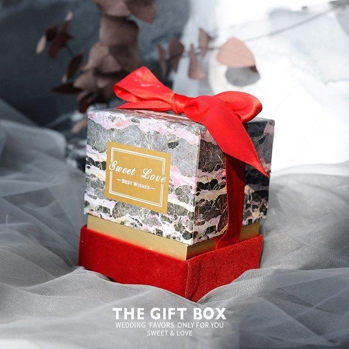 衣萊時尚-熱賣款 簡約方形結婚喜糖盒清新伴手禮品盒包裝禮物盒NG023