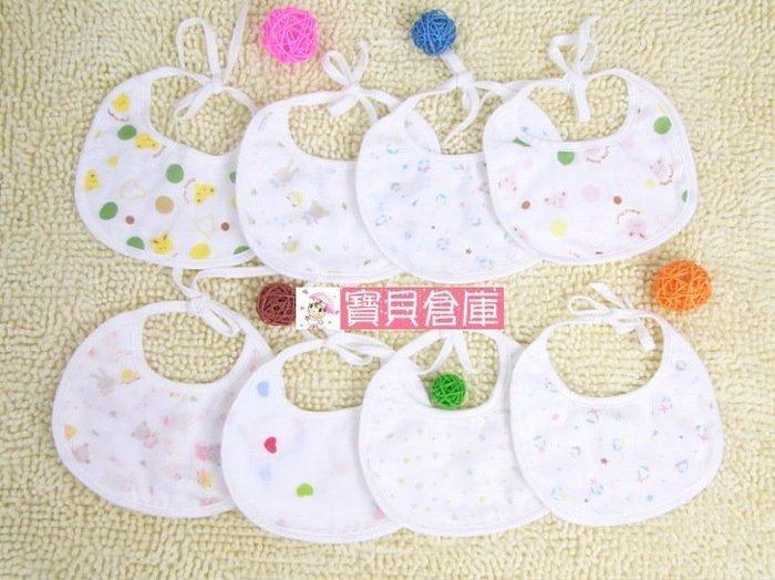 寶貝倉庫~日單~高密度全棉紗布口水巾-雙面嬰兒紗布圍嘴-圍兜-口水巾 ~小圍兜