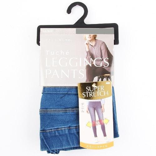 日本郡是 秋冬新款 GUNZE Tuche 牛仔褲 天空藍 刷白 新款超伸 鉛筆褲 彈性 丹寧褲 美腿顯瘦褲