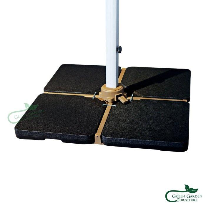 四片式水箱傘座60KG (羅馬傘搭配使用)【大綠地家具】遮陽傘座/PP塑料/耐曬耐雨/可調整重量/陽傘另購