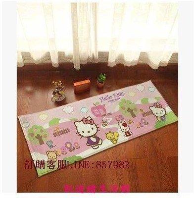 【凱迪豬生活館】可愛 卡通 法蘭絨 HELLO KITTY  公園KT 長形地墊 地毯 門墊 防滑墊 浴室墊 室內外踏地垫KTZ-201035