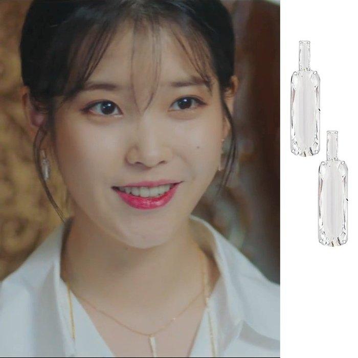 預購-韓劇同款德魯納酒店IU同款高級感耳環法式耳釘2019新款潮個性網紅小眾百搭