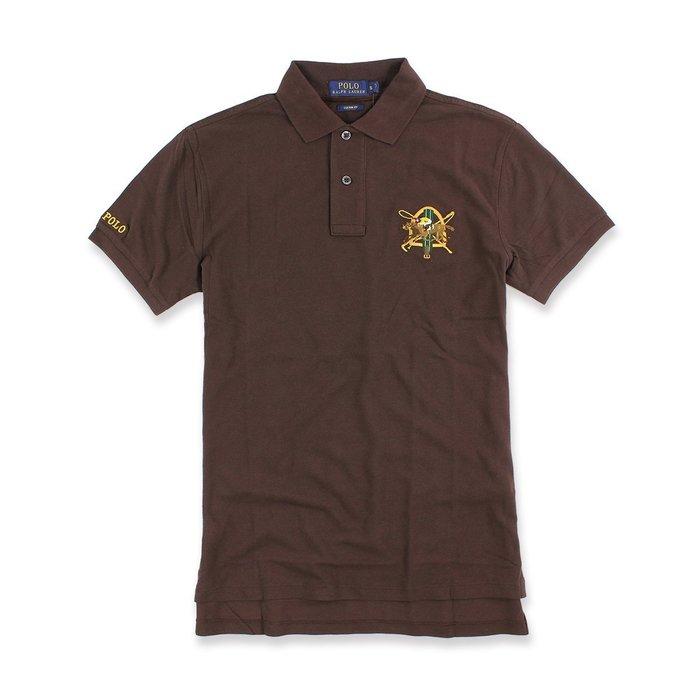 美國百分百【全新真品】Ralph Lauren 群馬 Polo衫 RL 短袖 NEW LOGO 咖啡色 XS號 I545