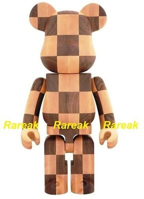 Medicom Be@rbrick Karimoku Chess Wood 1000% Wooden Bearbrick