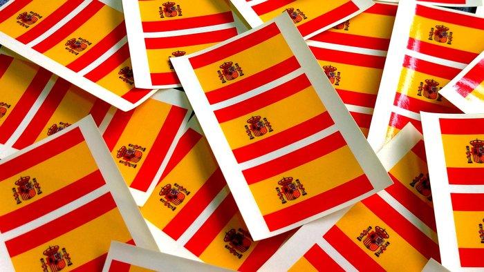 【國旗貼紙專賣店】西班牙國旗貼紙/一次需購買20組