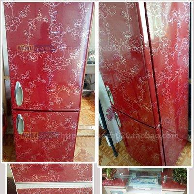奇奇店-酒紅冰箱保護膜冰箱貼紙冰箱裝飾...