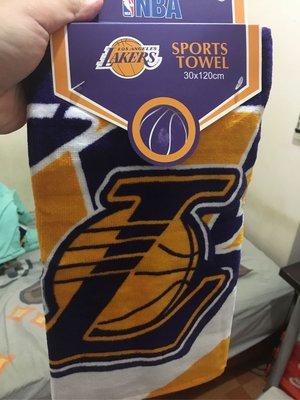 NBA湖人隊 運動毛巾  詹皇御用