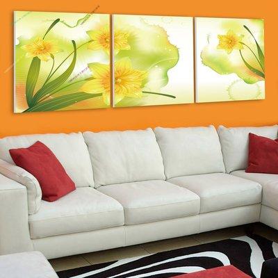【30*30cm】【厚0.9cm】黃花-無框畫裝飾畫版畫客廳簡約家居餐廳臥室牆壁【280101_098】(1套價格)