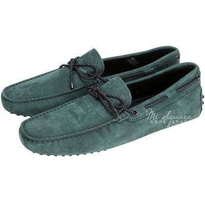 米蘭廣場 TOD'S Gommino Driving 麂皮綁帶豆豆休閒鞋(綠色) 1510166-08