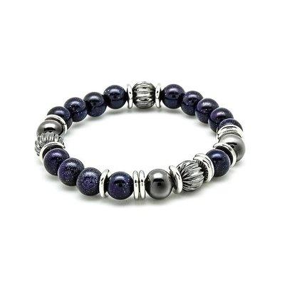 SOLO Natural Beaded Bracelet 簡約天然串珠手環 藍砂石 藤原本舖