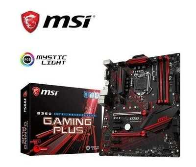 全新【MSI 微星】B360 GAMING PLUS 主機板