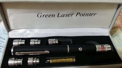 LULU's green laser pointer 綠色雷射筆 辦公用品 5+1變換筆頭 簡報筆 綠光