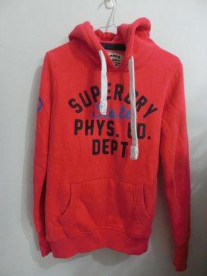 全新澳洲帶回 Superdry極度乾燥 女款 STATE PHYS.ED系列 連帽上衣 紅色S號
