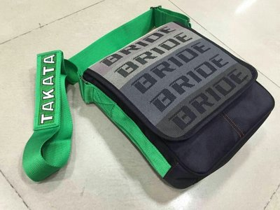 KarMa車藝 TAKATA/BRIDE斜背包 (綠色背帶)