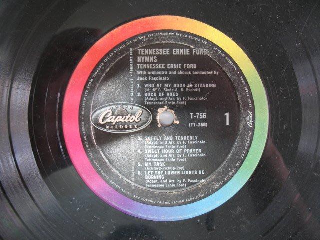 TENNESSEE ERNIE FORD HYMNS - 早期西洋進口黑膠唱片 裸片 - 101元起標 - 黑膠104