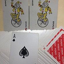 日立HITACHI,紀念撲克,舊,開用,齊卡,兩彩無黑