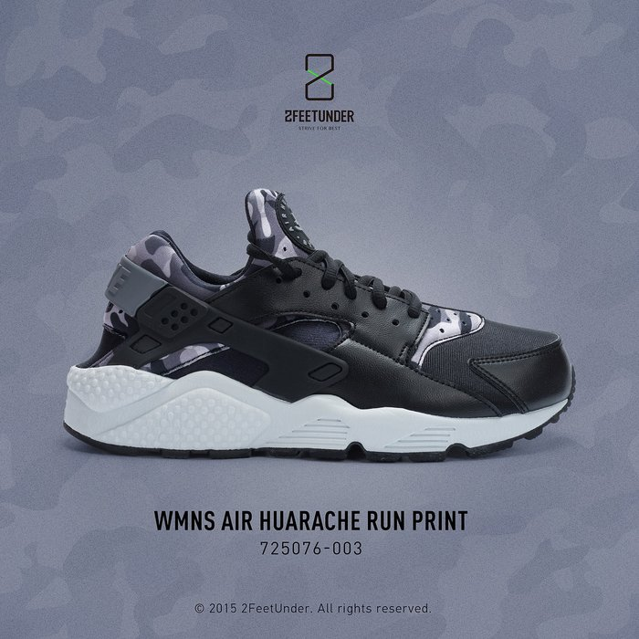 2FeetUnder - Nike WMNS Air Huarache Run Print 迷彩 725076-003
