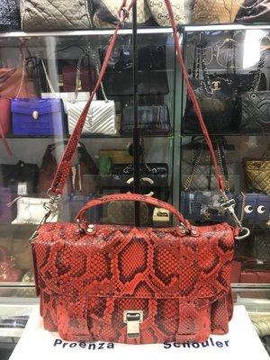 Proenza Schouler PS1 紅色蟒蛇皮限量款