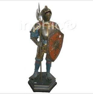 INPHIC-歐式客廳裝飾擺飾傢俱飾品泰國家居站姿鎧甲武士