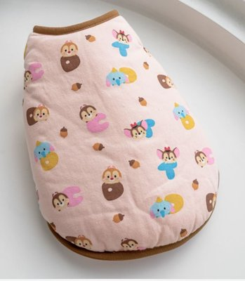 貝果貝果 韓國 DENTISTS APPOINTMENT Disney 棉襖背心系列 粉-奇奇蒂蒂【D3625】中型犬