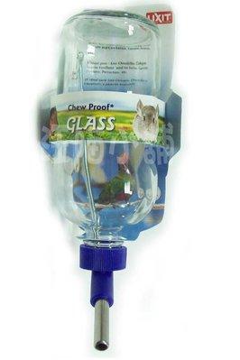 ☆汪喵小舖2店☆ 美國 LIXIT 輕型鳥鼠兔用玻璃飲水瓶480mL // 適合大部分細鐵絲籠