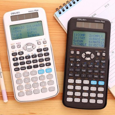 計算機得力科學函數計算器大學生考試復數微積分大學解方程多功能學生用