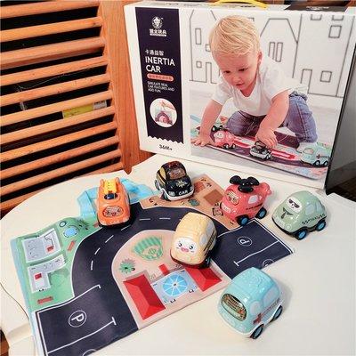 兒童卡通慣性車趣味光滑出租巴士車 迷你小汽車寶寶禮品益智套裝