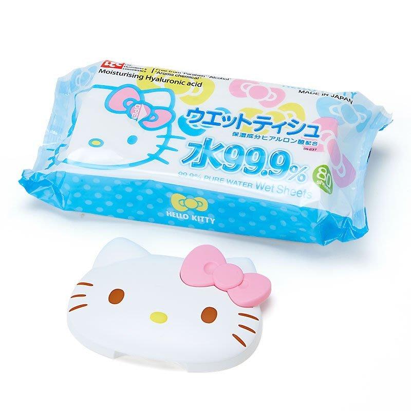 ❃小太陽的微笑❃日本製 kitty 可重複使用 濕紙巾 卸妝棉 專用蓋 黏貼蓋 附濕紙巾