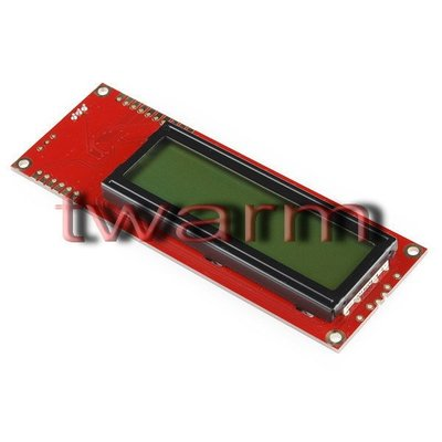 《德源科技》r)美國原廠 Serial Enabled 16x2 LCD-Black on Green 綠底黑字5V