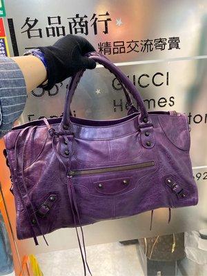 名品商行 2手名牌  BALENCIAGA 超實用  Part time 紫色 狀況90新 参考圖片 鏡子 防塵套