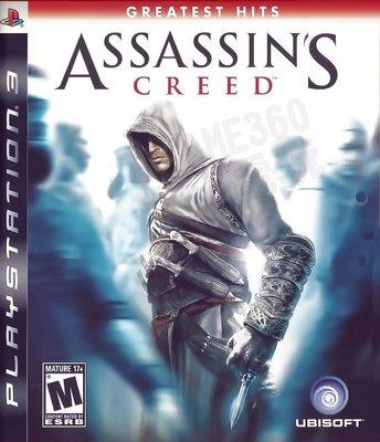 【二手遊戲】PS3 刺客教條1 ASSASSINS CREED 英文版 【台中恐龍電玩】