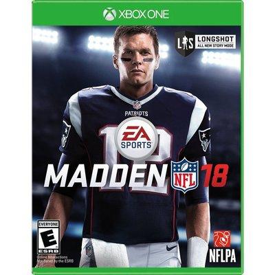 (現貨全新) XBOX ONE 勁爆美式足球 18 英文美版 MADDEN NFL 18