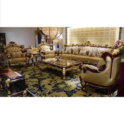 [紅蘋果傢俱]MDS-007 1+2+3沙發椅 茶几 新古典沙發 皮沙發 休閒沙發 現代 歐式沙發 法式沙發 實木沙發