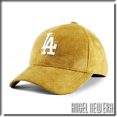 【ANGEL NEW ERA 】MLB Old Fashioned Cap LA 道奇 類 麂皮 老帽 卡其 鴨舌