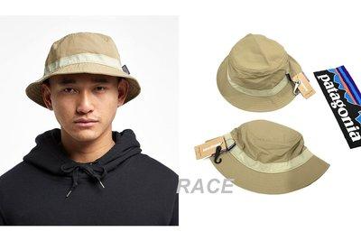 【RACE】PATAGONIA WAVEFARER BUCKET HAT 漁夫帽 衝浪帽 LOGO 山景 卡其