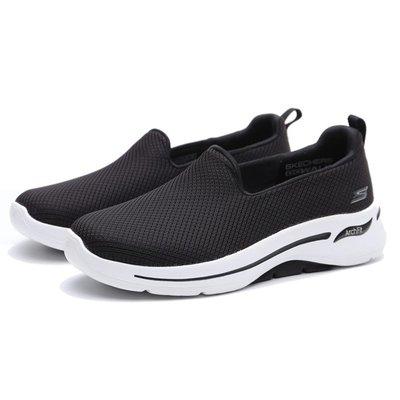 【E.P】SKECHERS GO WALK 休閒鞋 黑 寬楦 健走鞋 懶人鞋 女版 124401WBKW