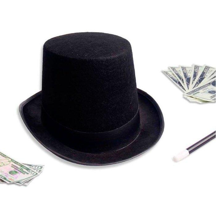禧禧雜貨店-萬圣節帽子魔術師帽子魔術帽禮帽高禮帽爵士帽演出帽道具魔法帽#萬聖節道具#萬聖節裝飾#萬聖節服裝#萬聖節飾品